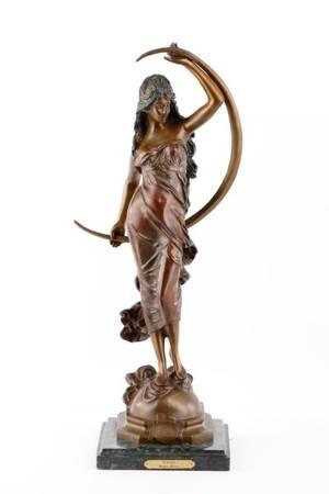 After Moreau Aurora Patinated Bronze Sculpture