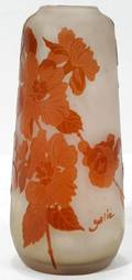 031006 GALLE CARVED CAMEO GLASS VASE H 73