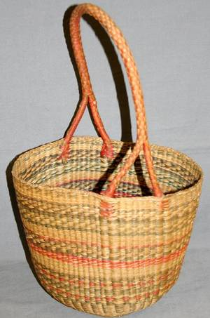 020024 NATIVE AMERICAN BASKET W HANDLE H 168