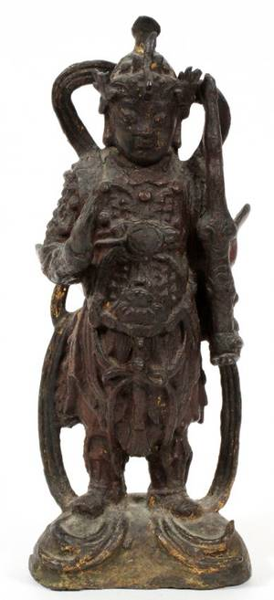 CHINESE CAST IRON FIGURE