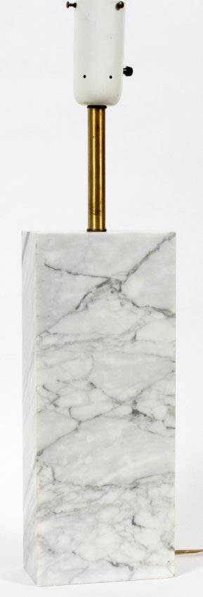 NESSEN MARBLE TABLE LAMP OVERALL