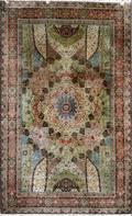 072065 TABRIZ SILK CARPET FROM SHAH OF IRANS PALACE