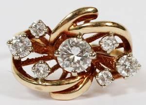 DIAMOND  14KT YELLOW GOLD RING