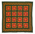 Pieced Presidents wreath quilt early 20th c
