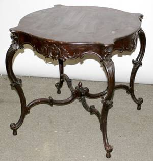 080132 REGENCY STYLE MAHOGANY OCCASIONAL TABLE AS IS