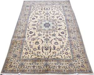 NAIN PERSIAN FINE WOOL  SILK RUG