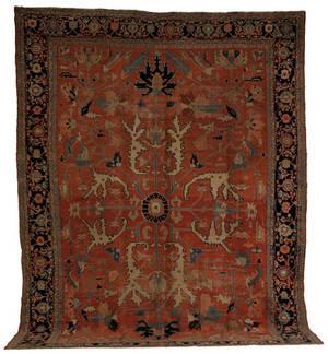 Roomsize Heriz rug late 19th c