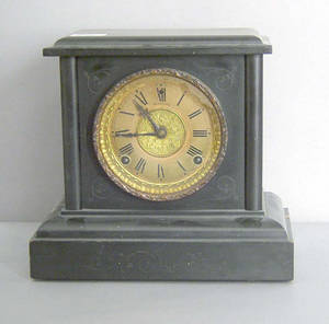 Session ebonized mantle clock