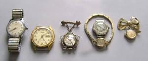 Bucherer stainless steel wrist watch together with a Bucherer pendant watch