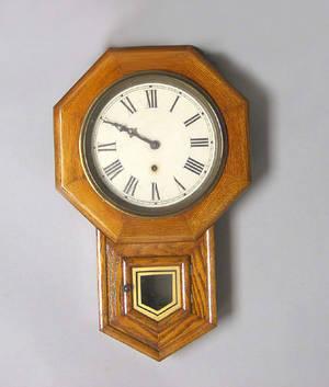 Sessions oak wall clock