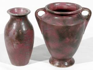 081229 AMERICAN ART POTTERY VASES EARLY 20TH c