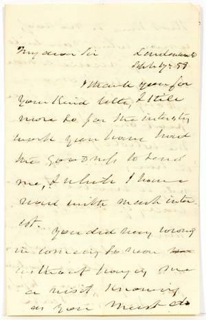 MARTIN VAN BUREN HAND WRITTEN  SIGNED LETTER