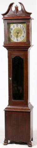 MAHOGANY TALL CASE CLOCK C1920