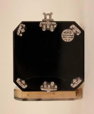 Art Deco Diamond  Onyx Vanity Case