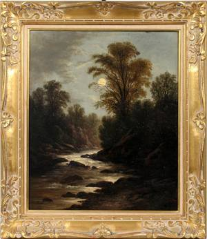 H WILLIAMS BRITISH OIL ON CANVAS 19TH C