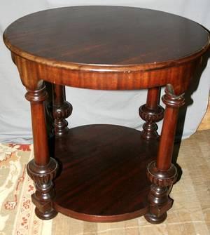 090237 EMPIRE STYLE MAHOGANY PARLOR TABLE C1920
