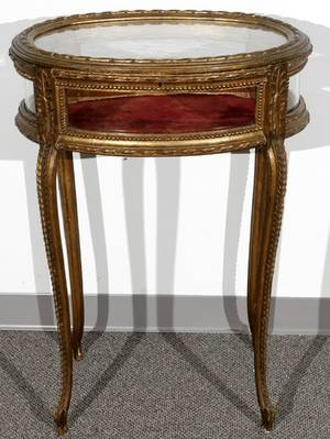 082188 FRENCH LOUIS XV STYLE VITRINE LATE 19TH C