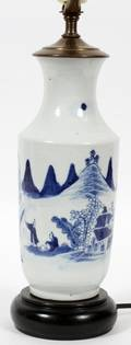 CHINESE CANTON PORCELAIN VASE MOUNTED AS A LAMP