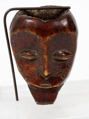 AFRICAN CARVED WOOD HEAD FIGURE