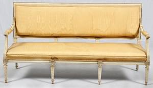 LOUIS XVI STYLE UPHOLSTERED SOFA