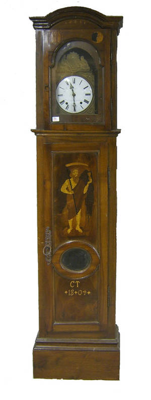 French Morbier tall case clock dated 1804