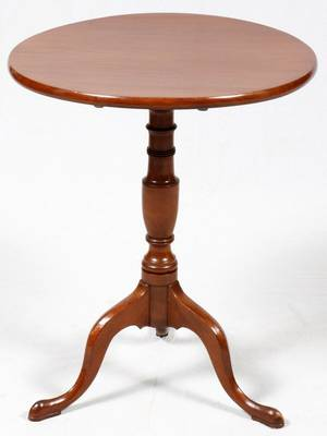 QUEEN ANNE STYLE MAHOGANY TILTTOP TABLE