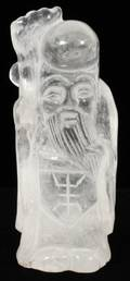 CHINESE ROCK CRYSTAL FIGURE OF A SAGE