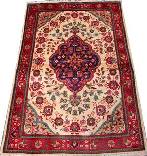 PERSIAN TABRIZ WOOL RUG C 19401970