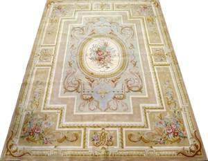 AUBUSSON STYLE HAND WOVEN ORIENTAL RUG