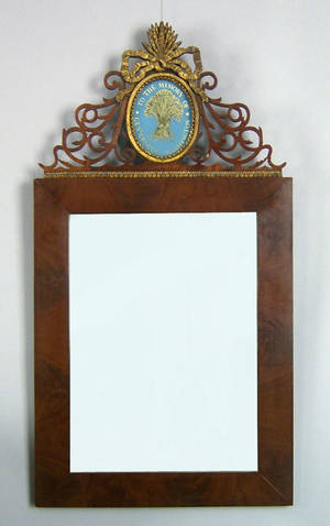 American late Federal mahogany mirror ca 1820