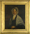Philadelphia oil on canvas portrait of a woman ca 1840
