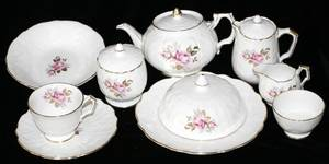 072332 AYNSLEY ENGLISH PORCELAIN BREAKFAST SET