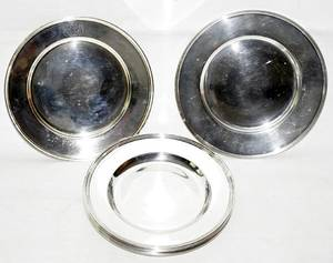 071359 AMERICAN STERLING SILVER PLATES DIA 663