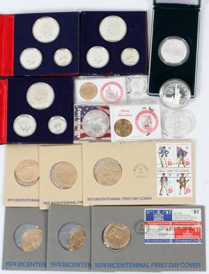 CURRENCY SILVER COINS AND FIRST DAY COVERS 14