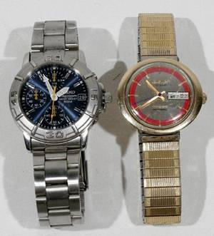 081446 LONGINES ADMIRAL WATCH  SEIKO CHRONOGRAPH
