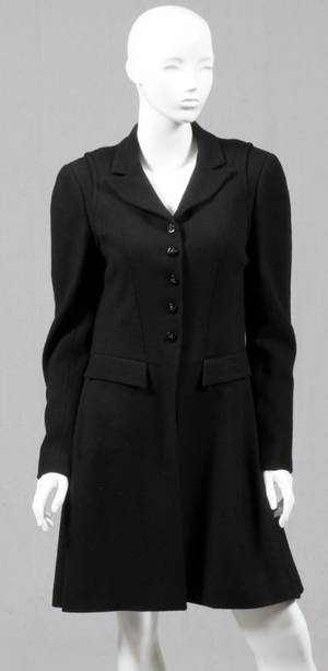 CHANEL BLACK WOOL  SILK DRESS  JACKET ENSEMBLE