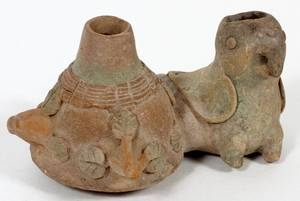 PRECOLUMBIAN TERRACOTTA VESSEL