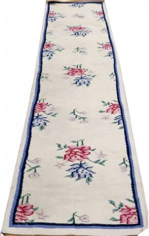 INDIAN DHURRIE HAND WOVEN WOOL RUNNER