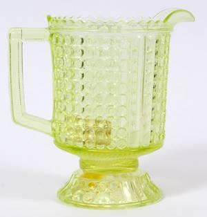 AMERICAN VASELINE GLASS WATER PITCHER