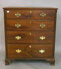 Pennsylvania Chippendale walnut chest of drawers