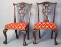 Pair of Chippendale style dining chairs