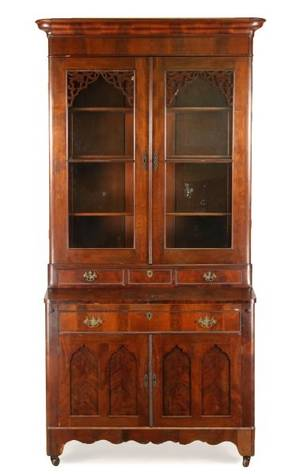 American Late Classical Secretary Bookcase
