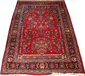 PERSIAN WOOL PRAYER RUG