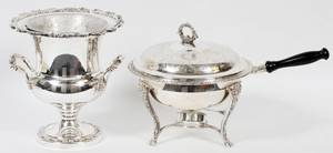 SILVERPLATE CHAMPAGNE BUCKET  CHAFING DISH