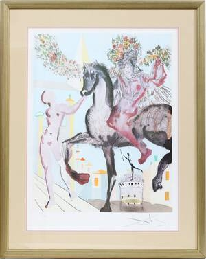 AFTER SALVADOR DALI LITHOGRAPH  DRYPOINTETCHING