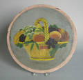 Painted panel with a basket of fruit