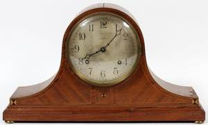 ANSONIA INLAID MAHOGANY MANTEL CLOCK C 1925