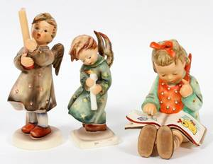HUMMEL BISQUE FIGURES THREE