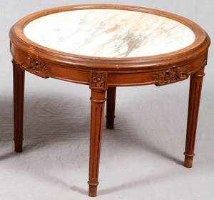 FRENCH STYLE MARBLETOP SIDE TABLE