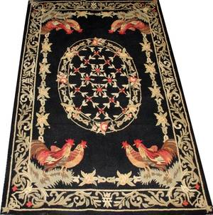 CHINESE HOOKED RUG